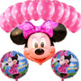 Globos Cara De Minnie - Mickey Gigantes