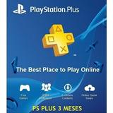 Playstation Plus Membresia 3 Meses Codigo