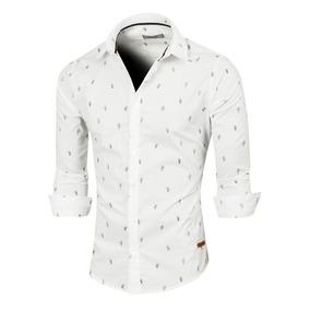 Camisa Bosnia Hombre Elastizada Manga Larga, Valkymia