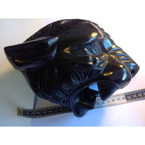 Máscara De Jaguar De Barro Negro