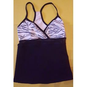 Blusa Bebe Sport Top Mujer Talla Xs Gym Zebra