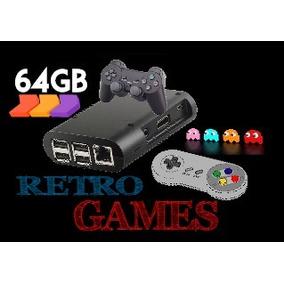 Arcade Mini Consola Retro 64gb Recalbox C/ 2 Joystick