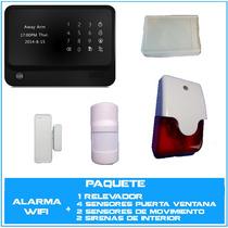 Alarma Wifi+gsm Paquete Residencial Seguridad Casa Negocio