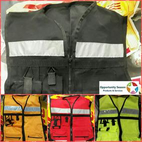 Pack 4 Pzas - Chaleco Seguridad Industrial Brigadista