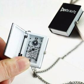 Colar Cordão Relógio Death Note Caderno Shinigami