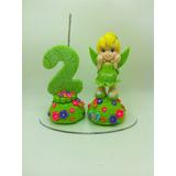 Vela Aniversário Em Biscuit - Sininho - Tinker Bell