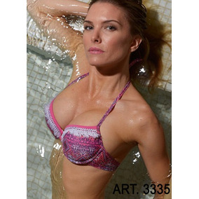 Bikini Tasa Soft Push Up Con Flecos Y Vedetina Mk Art. 3335