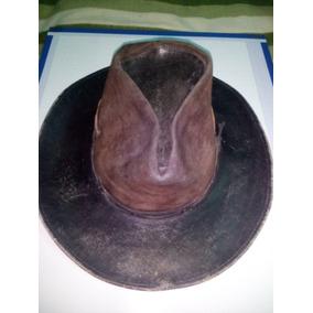 Sombrero De Cuero 100% Usado 4c6816ec458