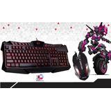 Teclado + Mouse Con Luces Gamer Ha-820c Usb | Halion