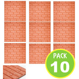 Pack 10 Panel 3d Ladrillo Decoracion Pared 73292 / Fernapet