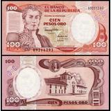 Colombia P-426e Fe 100 Pesos Oro 1991 Impressor Ibb Col*