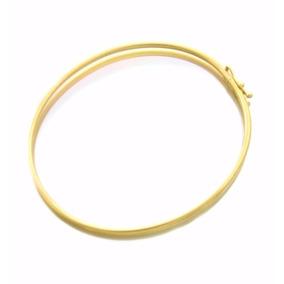 Bracelete Pulseira Redondo Feminino Em Ouro 18k-750