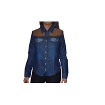 Camisa Jean Aplique Gamuza