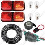 Kit Instalación Eléctrica Trailer Faros +ficha+cable 5x1mm