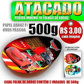 10 - Papel Arroz Ovo Páscoa Colher-500g R$ 3,00 Cada Imagem