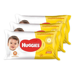Toallas Húmedas Huggies Limpieza Cotidiana Pack X 3