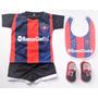 Kit San Lorenzo Bebe Camiseta+escarpines+babero Y Boca River