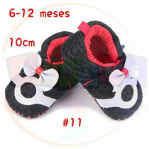 Zapato Tenis Botas Para Bebé De 6 A 12 Meses Suela Blanda