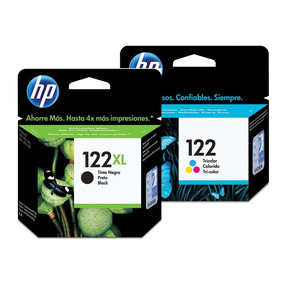 Kit Hp 122xl Preto E 122 Color Deskjet 1000 2050 3050
