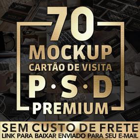 Mockup Cartão De Visita 70 Modelos Para Adobe Photoshop