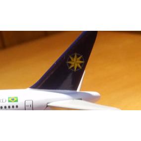 Avião Varig Boeing 777-200 Em Metal + Talher Original! Rj