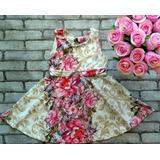 Vestido Infantil Rodado Estampado - Kit C/ 5 Vestidos