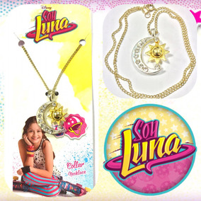 Soy Luna Collar Cadenita Colgante Medallita Dije Luna C/ Sol