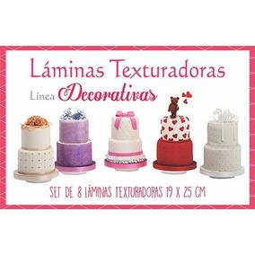 8 Laminas Texturadoras Capitone Etc Fondant Porcelana Fria