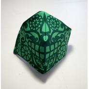 Cubre Bocas Lavable Papel Picado Verde Adulto