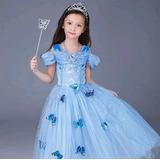 Lindo Vestido Princesa Cinderela Borboleta Disney Fantasia