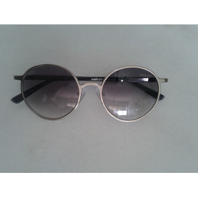 Óculos De Sol Colcci Redondo Prateado / Cinza Original
