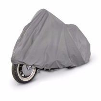 Funda Cubre Moto Premium Doble Tela Felpa Int. Impermable Xl