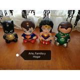 Mini Alcancias Super Heroes Dc Batman Super Man Wonder Woman