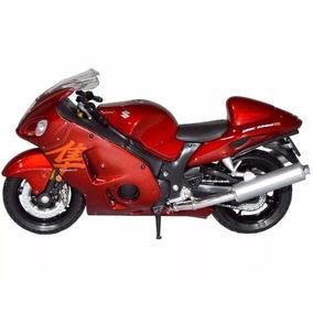 Moto Miniatura Suzuki Hayabusa Vermelha Escala 1:18