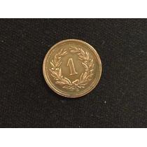 1907 Suiza Un Céntimo Moneda Antigua Laureles Lt45