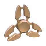 Fidget Spinner Hans Juguete Antiestres Aluminio Tri Dorado