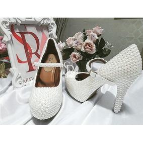Sapato Com Fecho De Perolas Noiva / Casamento