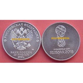 Moeda Rússia Copa Do Mundo Fifa 2018 25 Rublos Fc Na Capsul