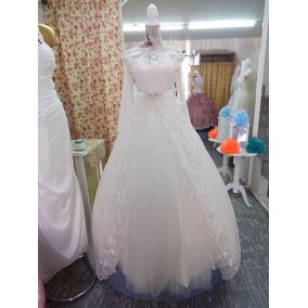Elegante Y Sencillo Vestido De Novia Línea A Escote Recto