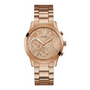 Reloj Para Mujer Guess Solar W1070l3 Color Oro Rosa