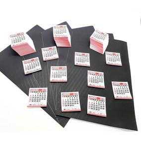 1000 Mini Calendário Com 20 Manta Magnética Imã Adesivada A4