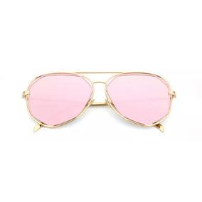 Óculos Espelhado Feminino Metal Olho De Gato Gatinho Barato 5ef5e48e4a