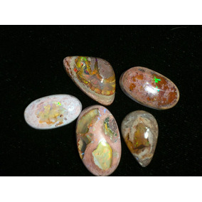 5 Opalos Con Cantera Natural
