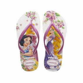 Ojotas Princesas Havaianas Disney Blanco/rosa Originales
