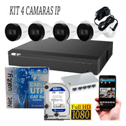 Kit 4 Camaras Ip + Nvr 4 Canales Autoinstalable