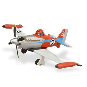Disney Planes-turbo Jet Set Dusty - Die Cast Plane - Escala