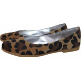 Zapatos Balerinas Chatitas Si Taco En Animal Print Leopardo