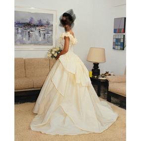afafa57949 Vestido De Novia - Raso Color Champagne - Usado - Talla S