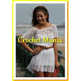 Vestido Tejido A Crochet Blanco Ideal Para Playa