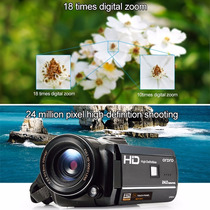 Câmera Filmadora Semi Profissional Visão Noturna Tela Girato